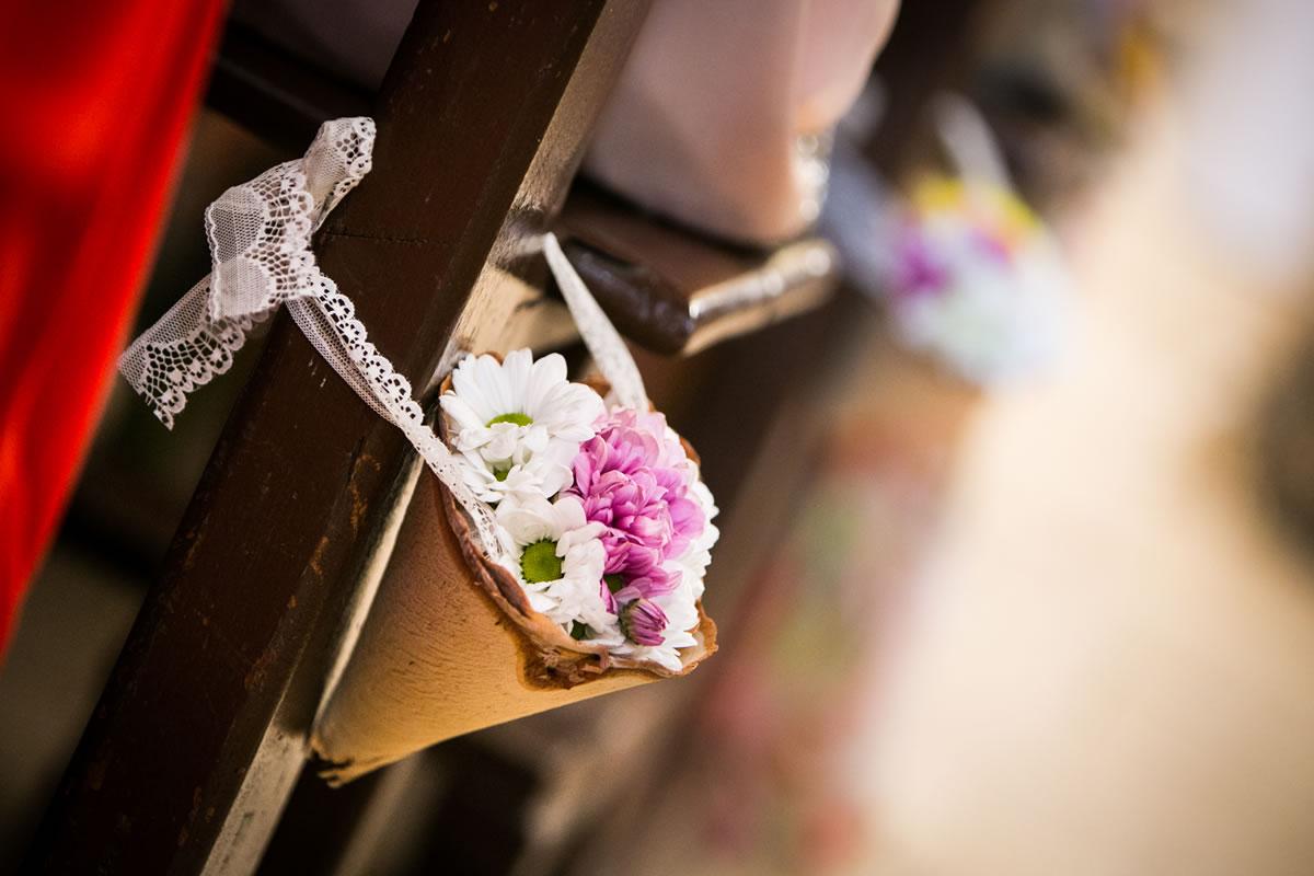 Fiori nozze navata